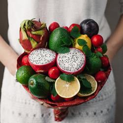 可食用蔬果手捧花 吃货们眼睛都为之一亮啦!