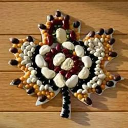 豆子拼贴枫叶的教程 拼贴树叶的方法用豆子
