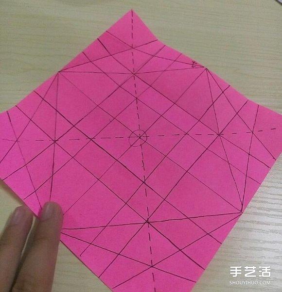 小松英夫的马折纸图解 超详细立体马的折法教程