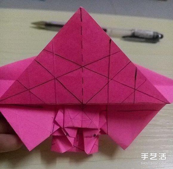 小松英夫的马折纸图解 超详细立体马的折法教程(4)