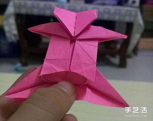 小松英夫的马折纸图解 超详细立体马的折法教程(5)