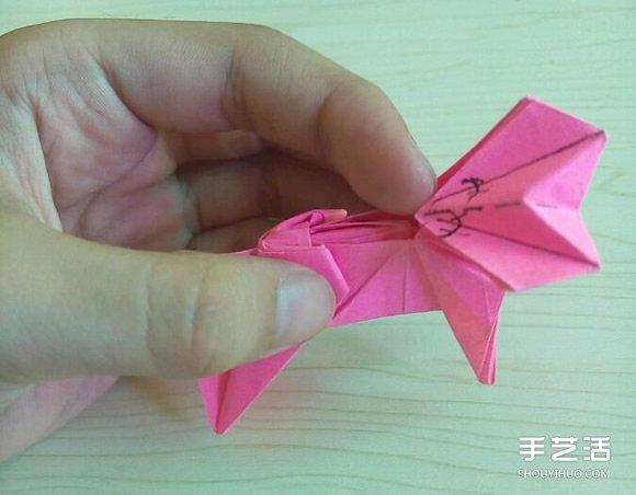 小松英夫的马折纸图解 超详细立体马的折法教程(7)