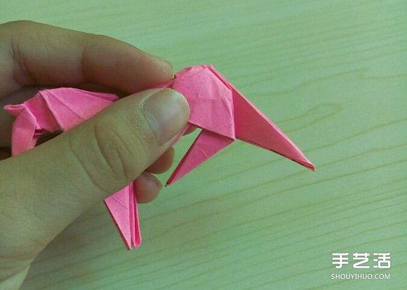 小松英夫的马折纸图解 超详细立体马的折法教程(8)