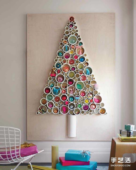 简易圣诞树制作方法 DIY大型圣诞树制作教程 -  www.shouyihuo.com