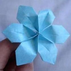 简单纸花的做法图解 六花瓣的花折纸教程