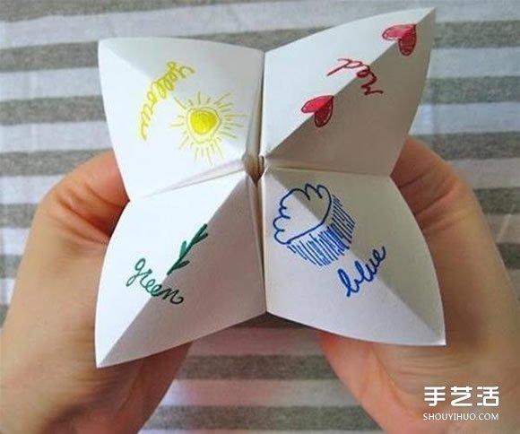 小时候玩的东南西北怎么折 折东南西北的方法 - www.shougong.com