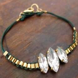 六个宝石串珠手链DIY 华丽手链制作方法图解