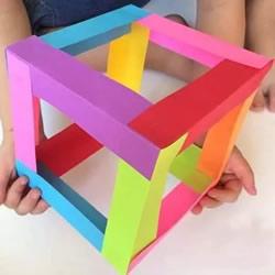 幼儿立体方块制作方法 漂亮纸立方体DI