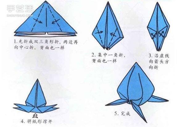 10个儿童手工折纸图解 简单幼儿折纸教程大全图片
