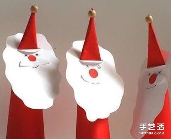 剪纸圣诞老人的做法 幼儿园圣诞老人手工制作