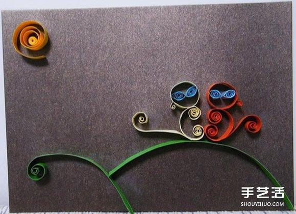 幼儿衍纸作品图片 简单衍纸画作品大图 -  www.shouyihuo.com
