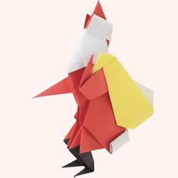 圣诞老人折纸步骤图 手工折纸圣诞老人教程