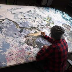 三年半时光的坚持!日本艺术家绘制巨幅画作