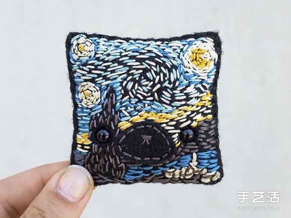 挑战连续100天!艺术家缝制的可爱毛毡作品 -  www.shouyihuo.com