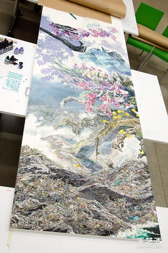 三年半时光的坚持!日本艺术家绘制巨幅画作 -  www.shouyihuo.com