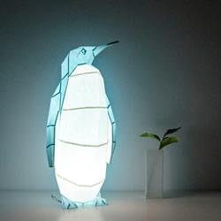 受折纸艺术的启发 可自己组装的纸糊动物灯具