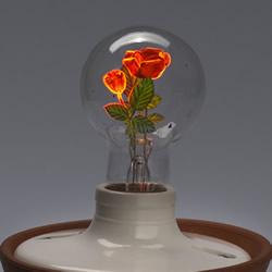 通电使花绽放!古董灯泡的绮丽发光艺术