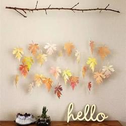 落叶手工作品图片 简单把树叶做成美丽的挂饰