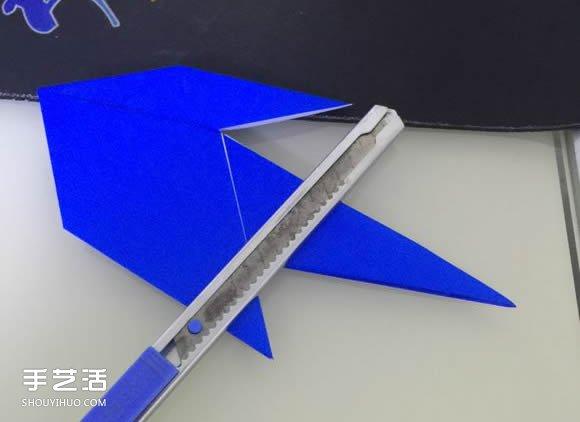 喷水鲸鱼的折法图解 折纸立体鲸鱼的过程步骤