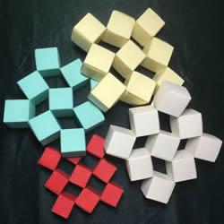 折纸会跳舞的方块图解 跳舞方块玩具的折法
