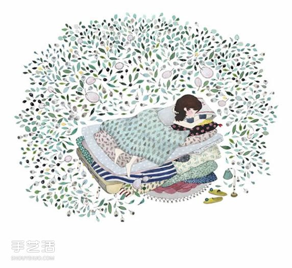 芬兰插画家 Anna Emilia Laitinen -  www.shouyihuo.com