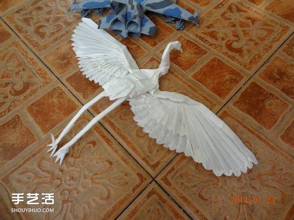 步骤的折法方法图解教程折纸鹤的纸鹤舞蹈_手怎么学手工技巧图片