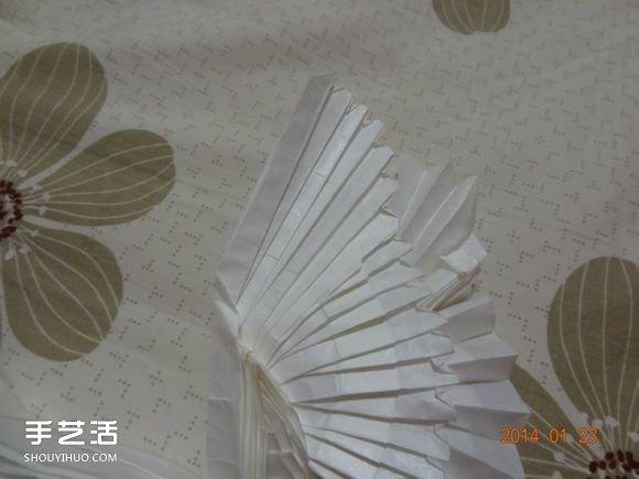 纸鹤的折法步骤图解 手工折纸鹤的方法教程