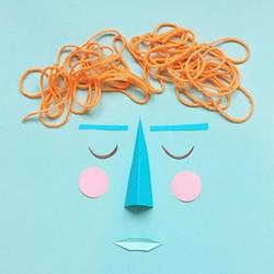做自己擅长的事 食物和卡纸DIY创意人物肖像