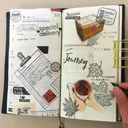 新的一年 自己DIY一本理想格式的完美手帐吧
