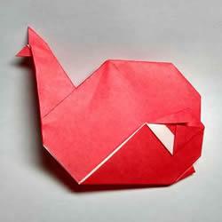 手工鲸鱼折纸图解教程 卡通鲸鱼的折法步骤