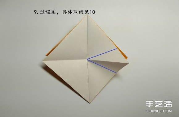 折纸食人鱼的折法图解 手工折食人鱼的步骤图