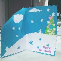手工自制圣诞贺卡图片 简单圣诞贺卡制作图解