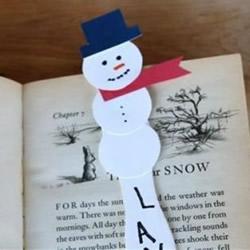 雪人书签制作方法图解 雪糕棍做雪人书签教程