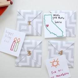 创意贺卡的制作方法 刺绣风个性贺卡手工制作
