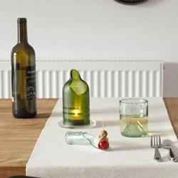 玻璃瓶创意手工图片 做出玻璃杯、托盘和烛台
