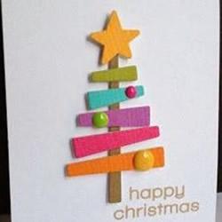 简单圣诞贺卡制作图解 手工圣诞卡片制作图片