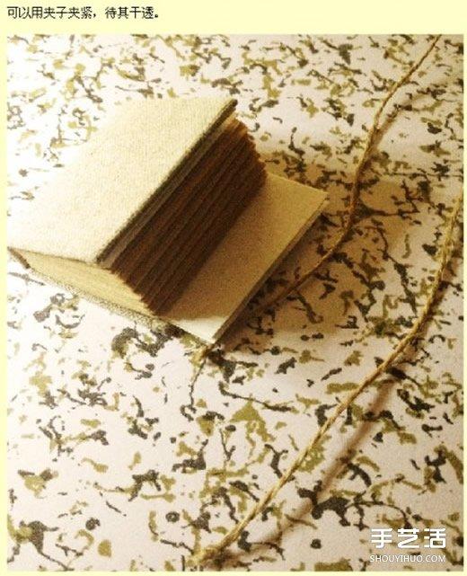 迷你小书本制作过程 手工书本制作方法图解 -  www.shouyihuo.com