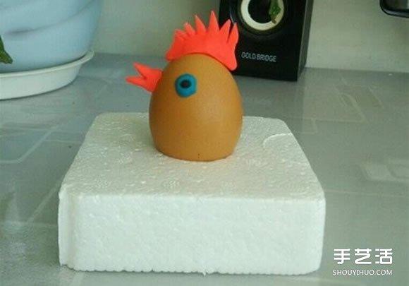 幼儿园小公鸡手工制作 橡皮泥做小鸡的教程