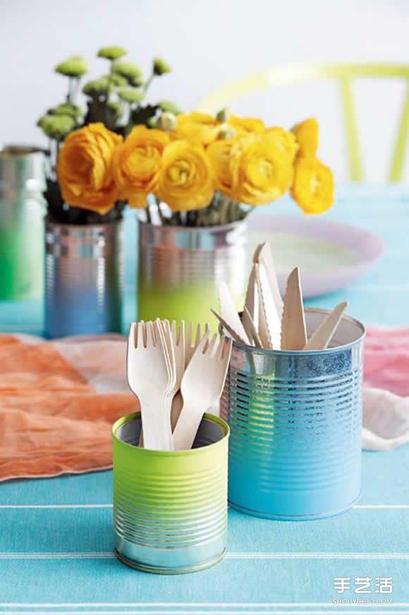 简单餐具DIY制作图片 手工餐具改造方法教程 -  www.shouyihuo.com