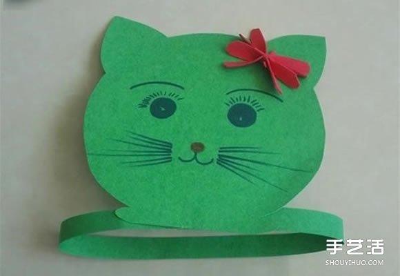 简单的动物帽子小制作,很适合幼儿园里的小朋友培养动手能力!