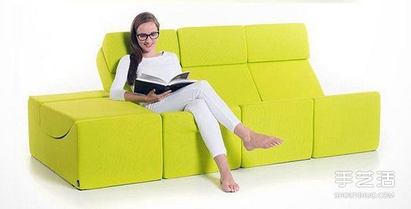 百变积木沙发设计 任你调整到舒服的角度 -  www.shouyihuo.com