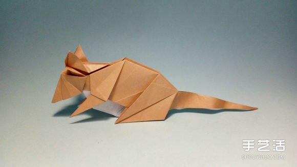 立体老鼠的折纸方法 十二生肖老鼠的折法图解图片