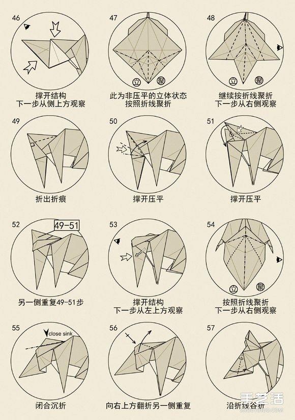 立体老鼠的折纸方法 十二生肖老鼠的折法图解