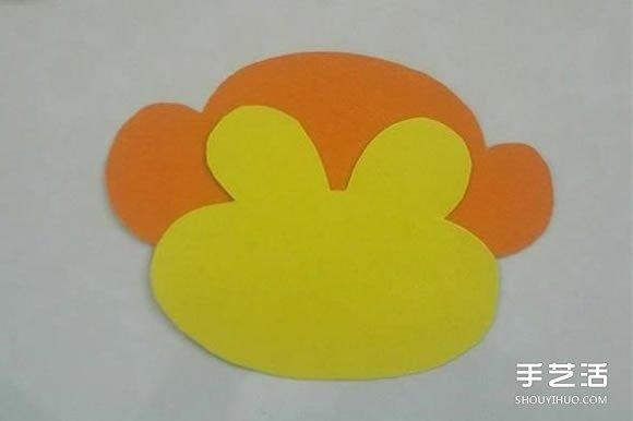 简单卡纸猴子头饰制作 幼儿猴子帽子的做法图片