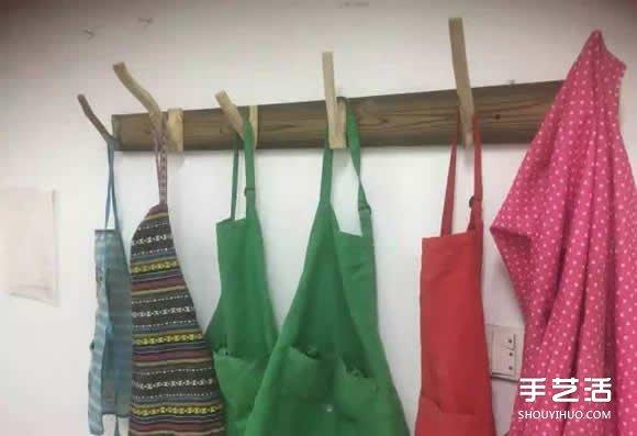 树杈手工制作挂衣服用的挂钩架过程步骤图解 -  www.shouyihuo.com