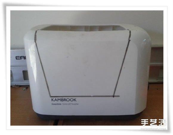 微型花园:废旧烤面包机改造制作的美丽盆景 -  www.shouyihuo.com
