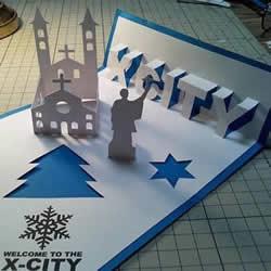 圣诞立体贺卡制作图解 立体圣诞贺卡制作方法
