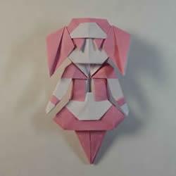折纸女孩的步骤图解 复杂女生的折法教程