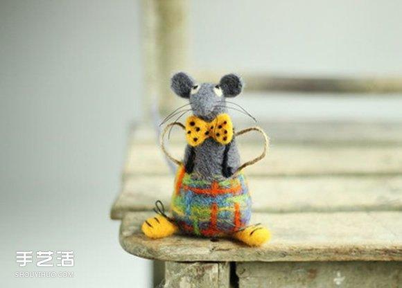 温暖人心的手作:可爱系羊毛毡小动物作品图片