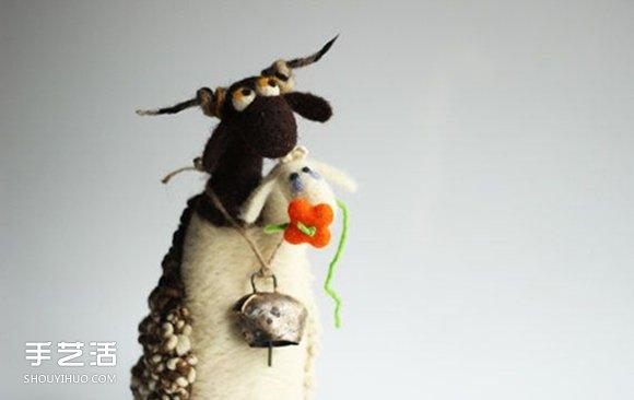 羊毛毡小动物作品图片